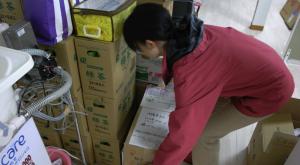 支援物資仕分け201104
